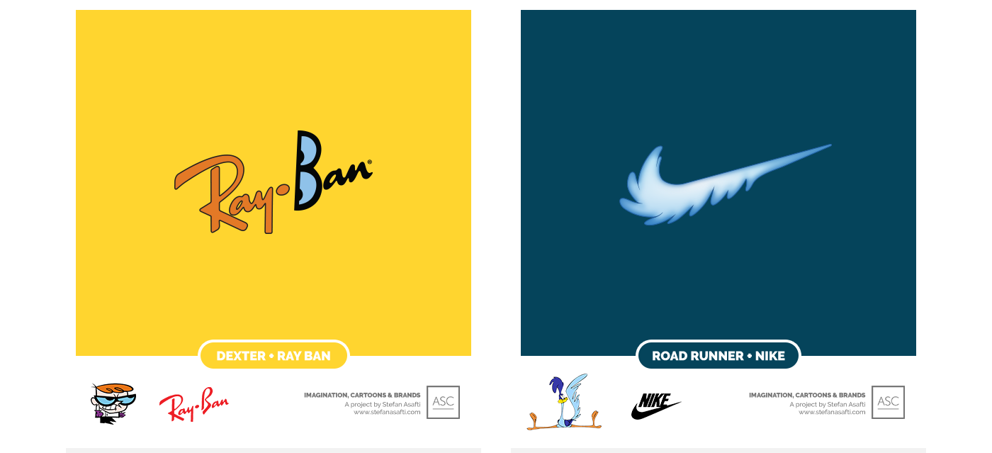 ray-ban and nike, dexters laboratory, road runner