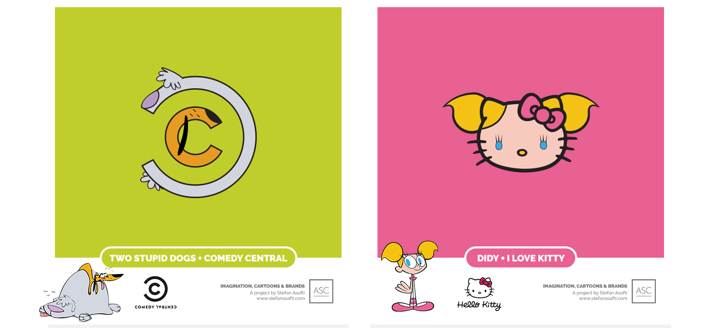 comedy central and hello kitty, two stupid dogs, deedee