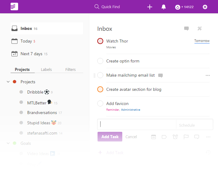 Todoist App review and how I use it to maximize productivity
